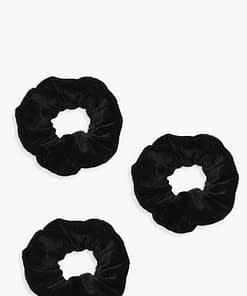 kit com 3 scrunchies veludo